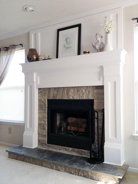 Diy Fireplace Mantel Redo Diy Fireplace Mantel Fireplace Mantel And Mantels