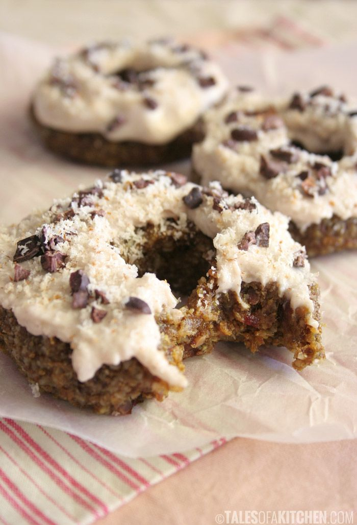 Ginger Caramel Doughnuts with Coconut Glaze (raw, vegan)Sweets Coconut ...