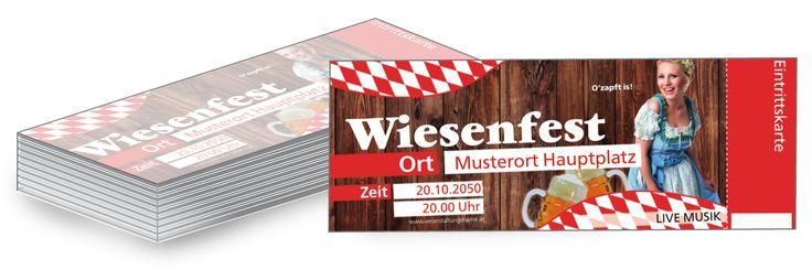 Zusätzlich zu den bereits vorgefertigten Wiesnfest Eintrittskarten können Sie #Werbebanner #Poster und #Flyer im selben Design online bestellen. #eintrittskarten #wiesn #fest
