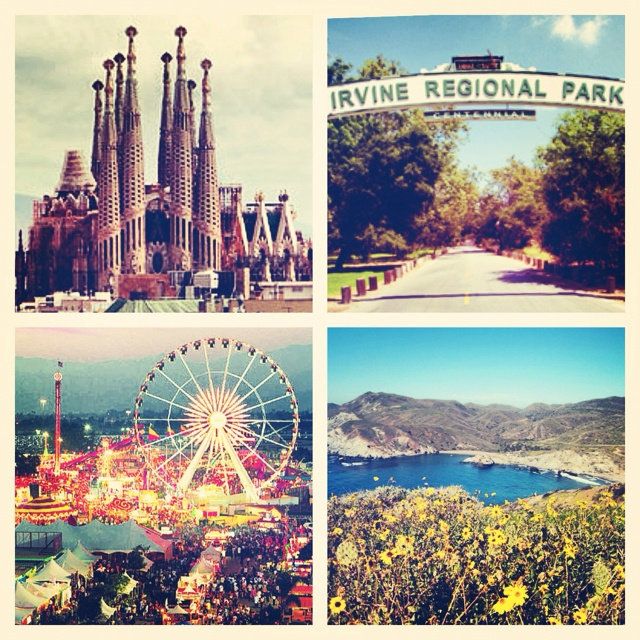 'Favorite Places' -La Sagrada Familia, Barcelona, Spain -Irvine Park, Irvine, CA -The LA County Fair, Pomona, CA -Shark Harbor, Catalina Island, CA  Yours?
