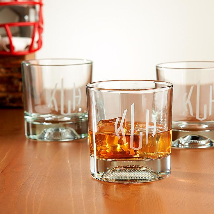 No matter what his sport, he'll love the look of these ultra-cool lowball glasses. Just the right size for scotch or whiskey, each glass has a molded sports ball in the bottom.