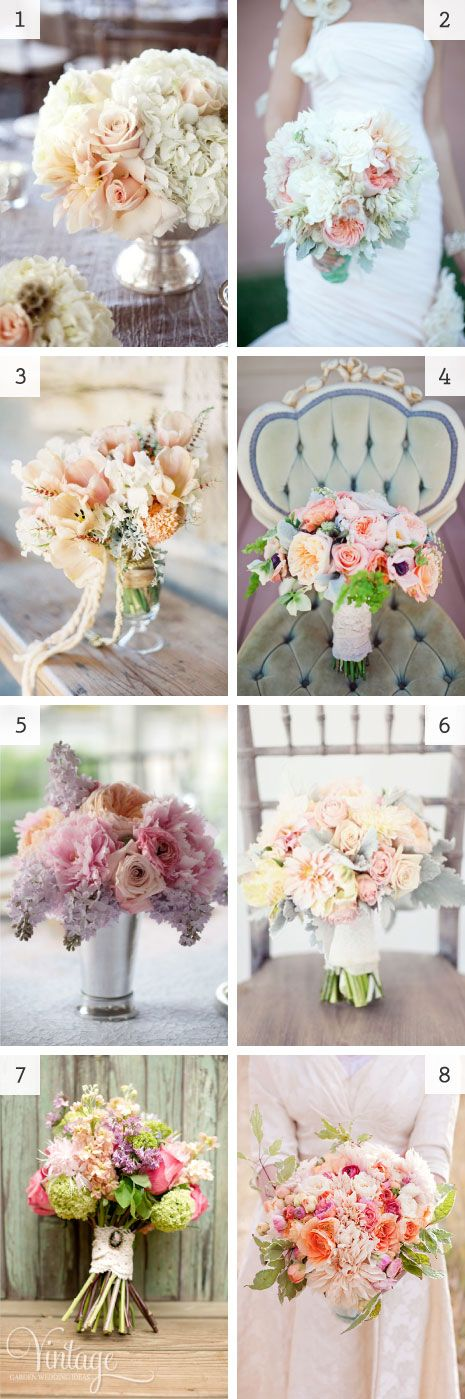 using peach flowers in the wedding bouquet - #pink #ivory #blush