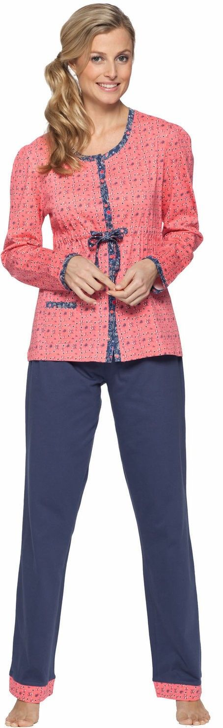 Doorknoop Pyjama Pastunette Orangered | Online voordelige pyjama's, nachthemden en meer