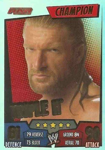 Triple H Champion Card Slam Attax Rumble Trading Card Wwe