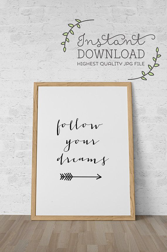 Printable art instant download inspirational quotation