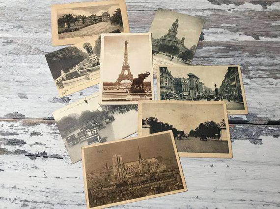 Vintage French Travel Postcard Paris City Souvenir Postcard, Rue de Rivoli  Statue Jeanne D/'Arc