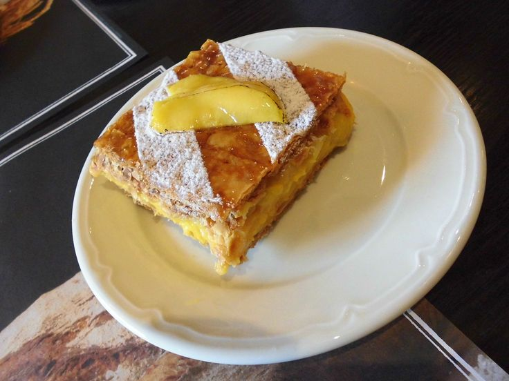 Mille Feuille Mangue #mango #sweet #pastry #cream