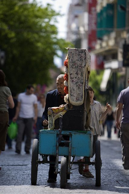 """This is my Greece   Man playing reek traditional hand-organ called """"Laterna"""" in Athens neighborhoods"""