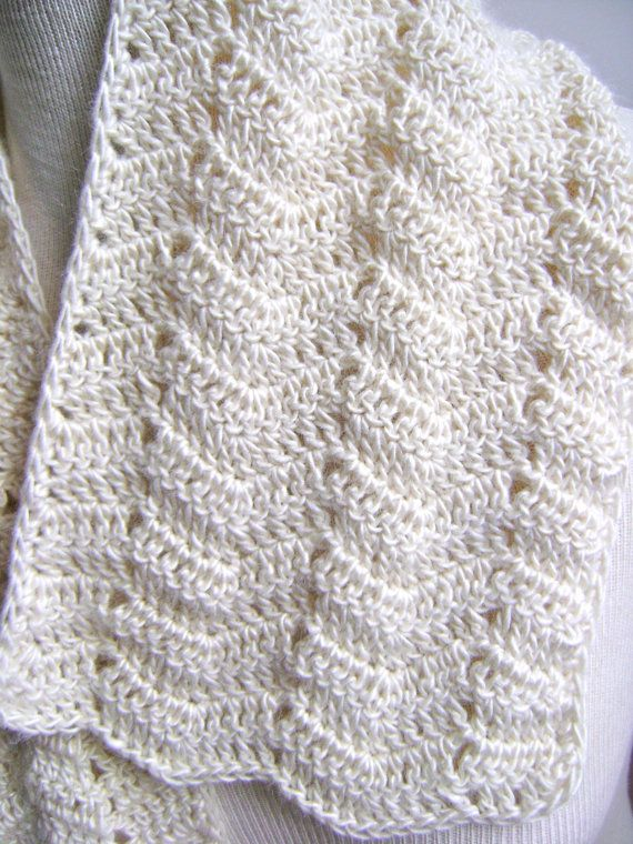 Crochet Lace Pattern For Beginners : Lacy Crochet Scarf Pattern Easy Beginner by ...