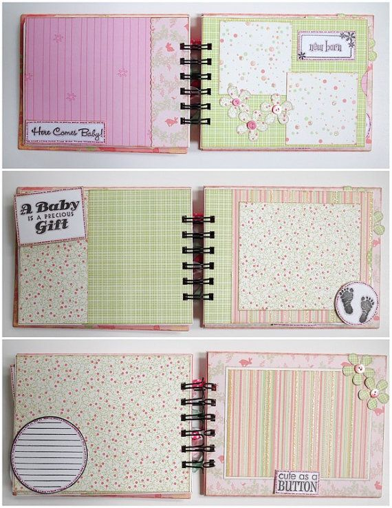 Scrapbook Mini Album - Baby Girl