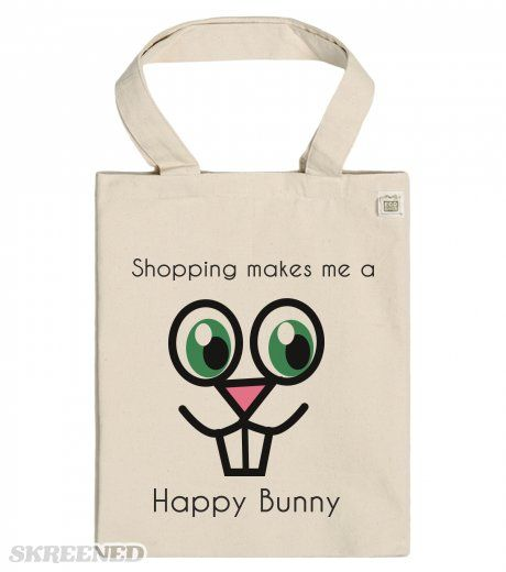 Shopping makes me a Happy Bunny - ECO Tote bag