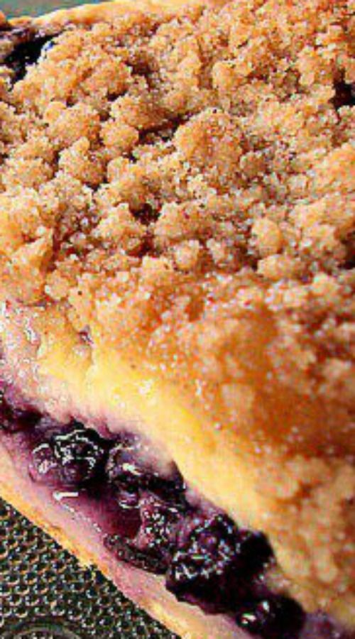 Creamy Blueberry Pie ~ absolutely delicious.