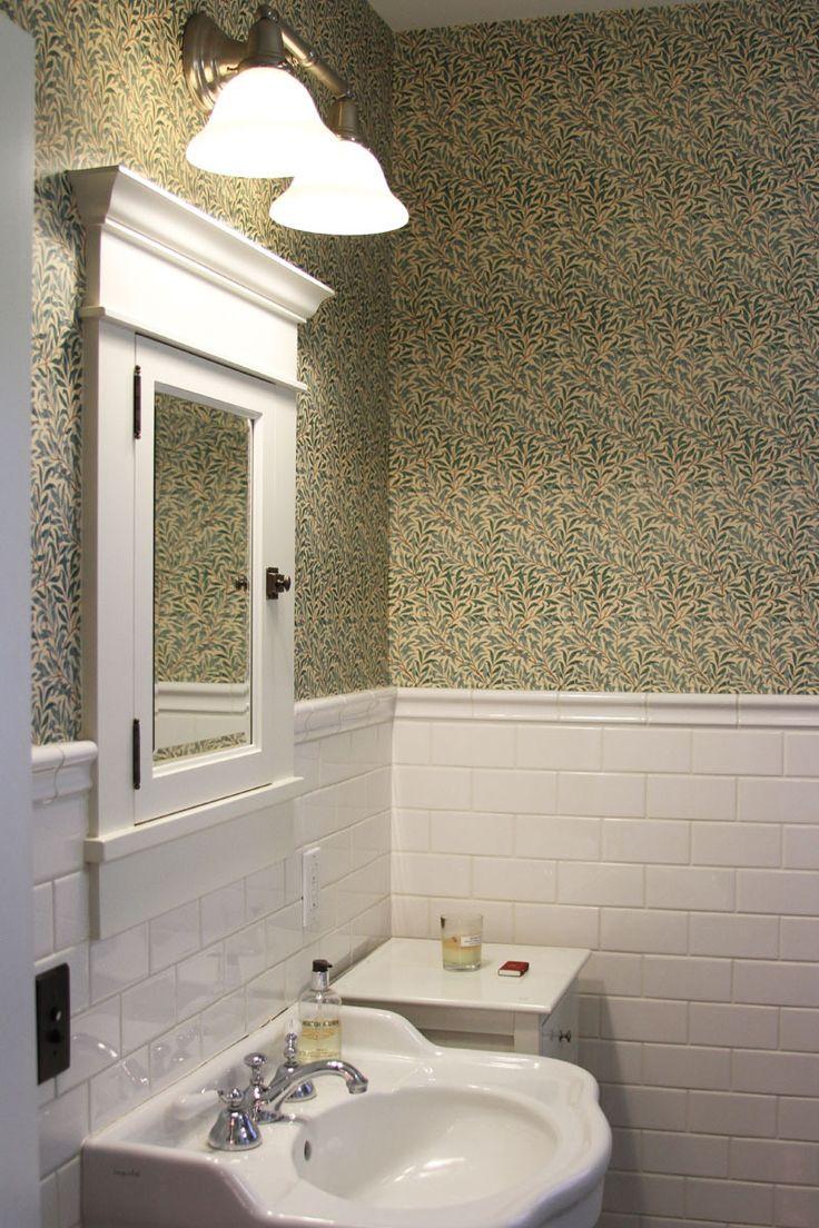 Arts and crafts bathroom tile - Kathleen Matt S California Craftsman