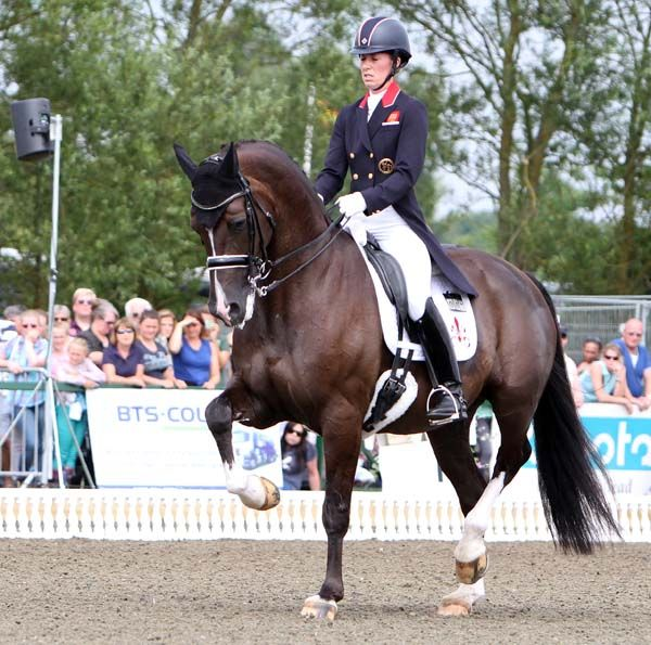 Charlotte Dujardin riding Valegro to victory at the Hickstead Nations Cup Grand Prix. © 2013 Ken Braddick/dressage-news.com