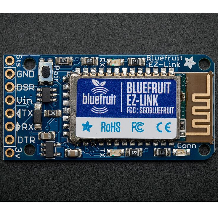 Adafruit Bluefruit EZ-Link Bluetooth Serial Link & Arduino Programmer - A Bluetooth module that can change baud rates on the fly and toggle the DTR pin as desired!