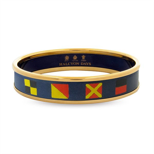 Halcyon Days Navy Nautical Push on Bangle and other apparel, accessories and trends. Browse and shop 1 related looks.