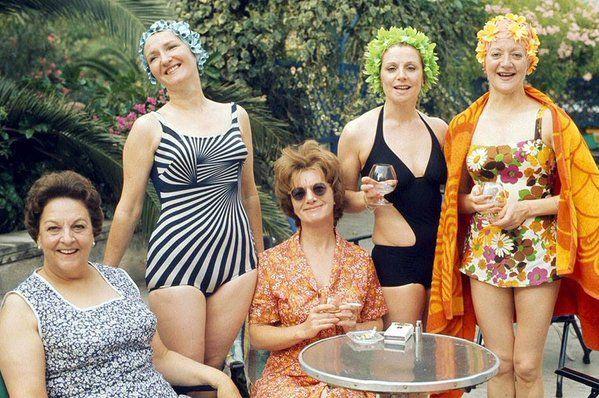 Mallorca has long been a popular holiday island - Betty Turpin, Emily Bishop, Hilda Ogden, Rita Littlewood and Mavis Riley 1974