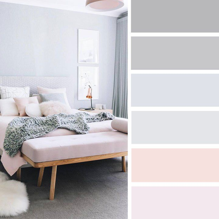 The Best Color Schemes for Your Bedroom,The Best Color Schemes for Your Bedroom,Blush and grey bedroom color palette #color #colorpalette #blush #bedroom #grey