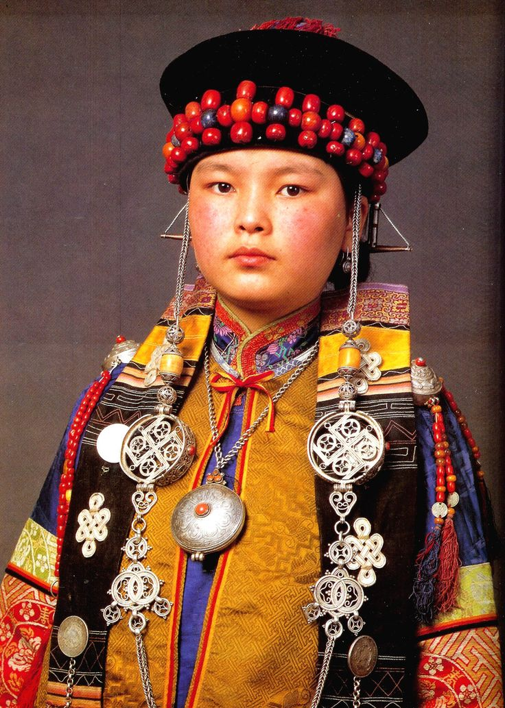 """Mongolian - Buryat attire and costume published in """"Die Mongolen"""""""