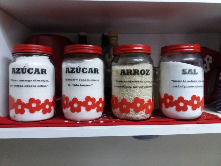 Renovando frascos de mermelada