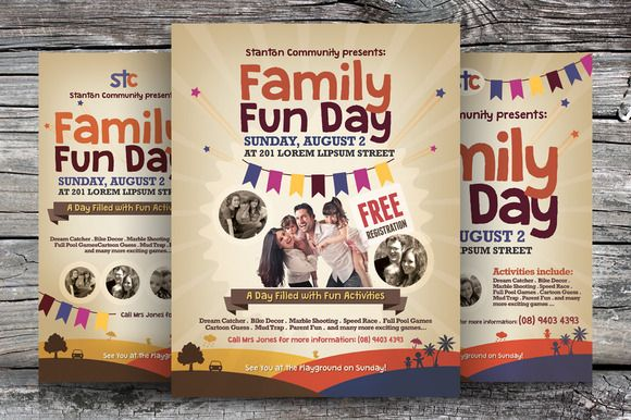 Check out Family Fun Day Flyers vol.02 by kinzi21 on Creative Market