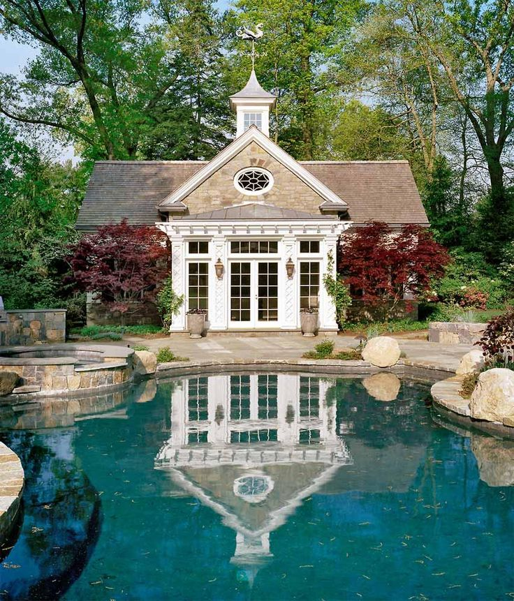 Elaborate Large Pool Houses: 134 Best Pool Houses And Sheds Images On Pinterest