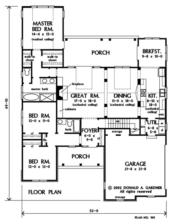 19 best don gardner house plans images on pinterest floor plans first floor plan of the wilton house plan number 981 malvernweather Choice Image