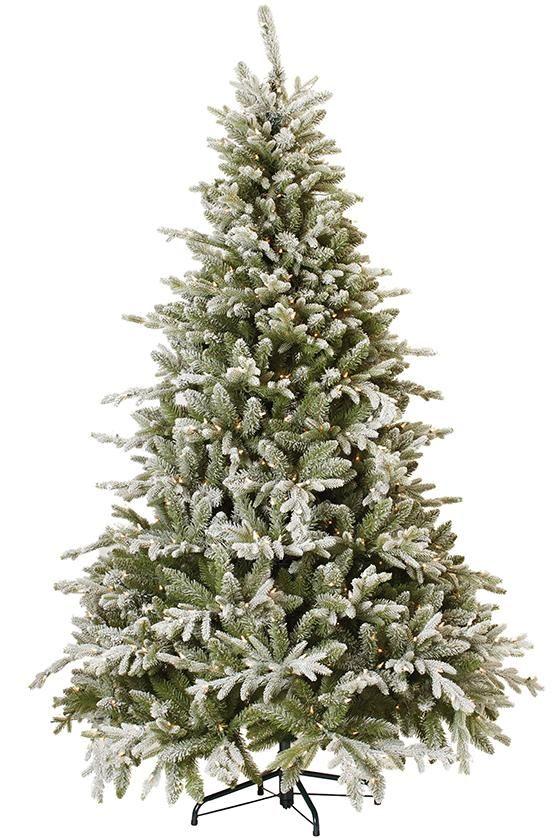 Martha Stewart Living™ Snowy Cambridge Fir Pre-Lit Artificial Tree - Faux Christmas Trees - Artificial Christmas Trees - Faux Xmas Tree - Entryway Tree - Pre-lit Christmas Tree | HomeDecorators.com