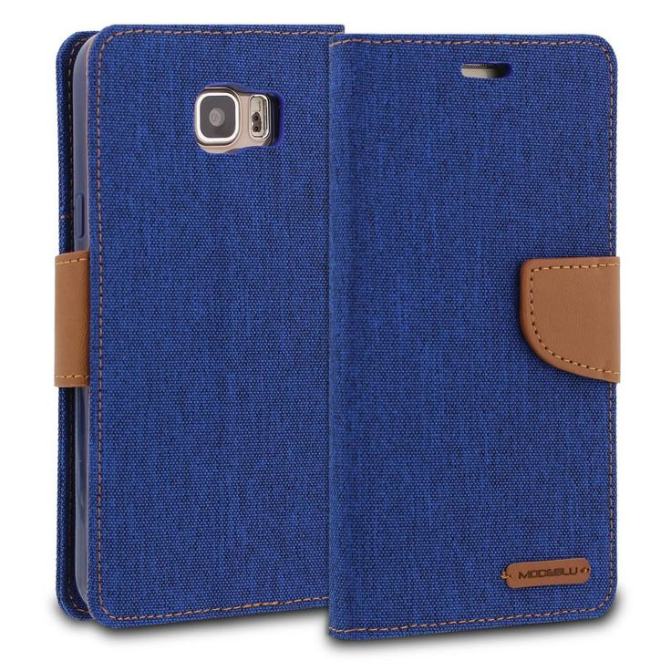 Galaxy Note 5 Case Pocket Diary Canvas Wallet Cover - ModeBlu