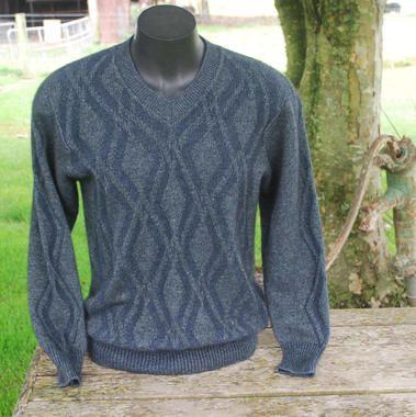 Lothlorian Possum & Merino Tussock V Neck Sweater