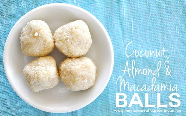 I made theseCoconut, Almond & Macadamia Ballson the weekend for a little snack during the kids karate tournament. They were absolutely delicious. I made these in the thermomix, however you c...