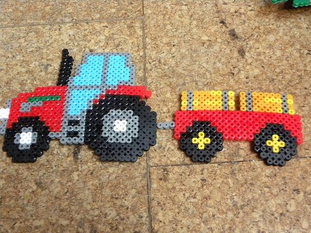 Tractor hama perler beads by sarahamina