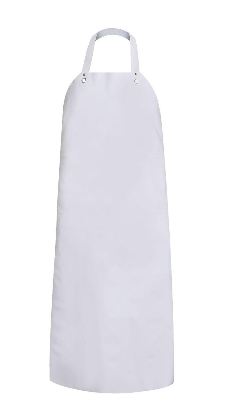 DELANTAL IMPERMEABLE Modelo: 120 Delantal delantero colgado en el cuello, hecho de 100% poliuretano resistente a las temperaturas bajas. Material resistente a los detergentes, fácil de mantener limpio. Producto destinado para los trabajadores de la industria cárnica, pesquera y lechera. Sirve perfectamente también para los trabajos en los frigoríficos.