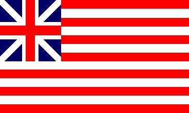 """Grand Union (U.S.) The famed """"Grand Union"""" flag hoisted near Washington's headquarters at Cambridge on 1 January 1776 turned out to be exactly the same as the flag that the East India Company had used ... on the other side of the world ... since 1701. The design is essentially a red ensign (minus, of course, the X of St. Patrick at that time) with the red field divided into 13 red-and-white stripes: the same pattern as the later U.S. flag, once the canton changed to """"a new constellation."""""""