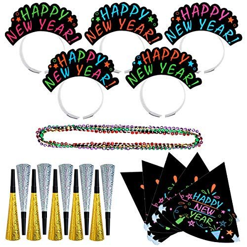 LUOEM New Year's Eve Party Supply - 25 Pcs New Year Party ...