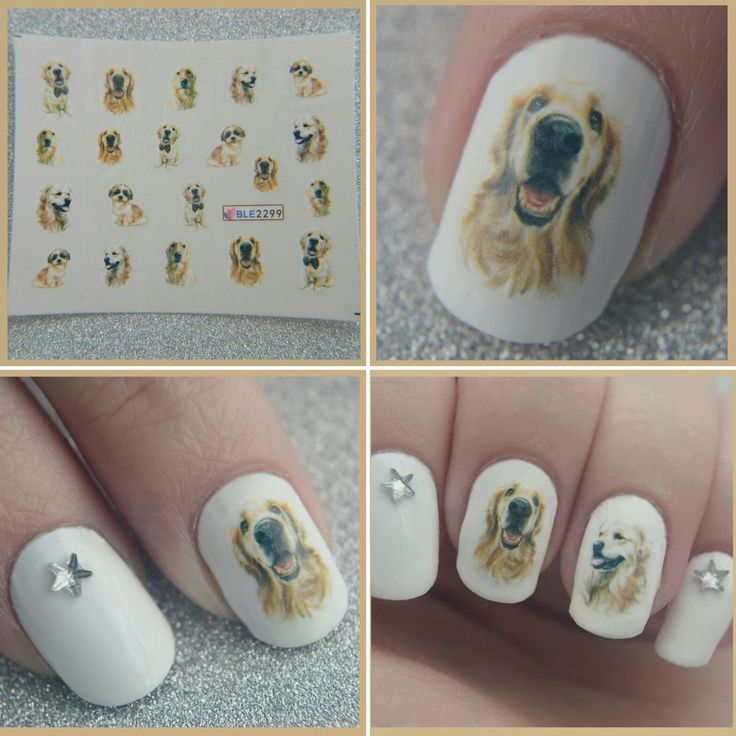 The product Retriever Dog Water Decals Nail Art ♥ (BLE-2299) is sold by Just a Dream Nails ♥