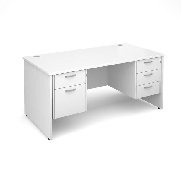 White Desk With Drawers On Both Sides Now Available At Best Prices