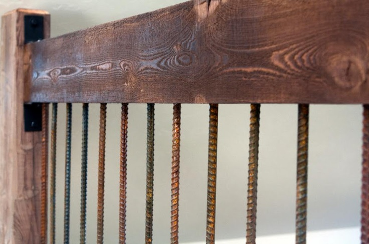 Rebar as railing detail. Who would of thought it could look this good. Ranchwood Rustic Railing Detail