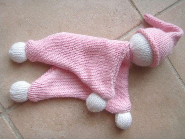 tricoter un doudou facile