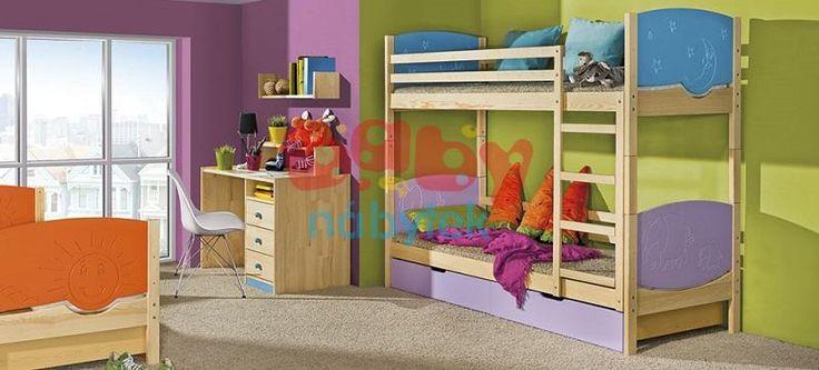 Dětská patrová rozkládací postel Trio borovice - Dětské patrové postele