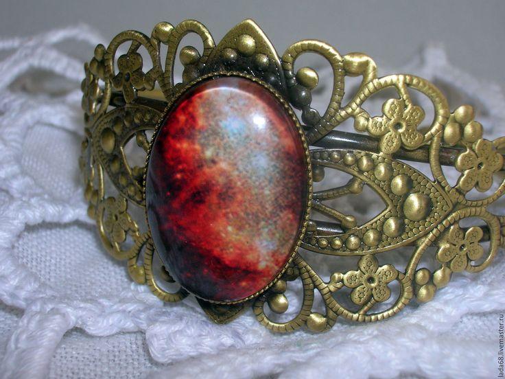 """Купить Браслет """"Восход на Марсе""""( браслет, украшение на руку) - комбинированный, браслет, Браслет ручной работы"""