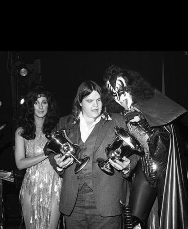 Cher , Meatloaf & Gene Simmons of Kiss