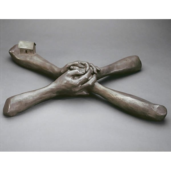 Louise Bourgeois - UNTITLED (NO. 7), 1993 Bronze, silver nitrate patina