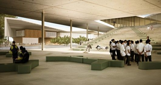 Inter National Design Win Competition with Modular School Complex | ArchDaily