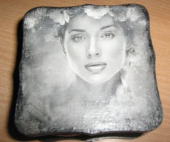 Kutija za nakit, transfer lepkom