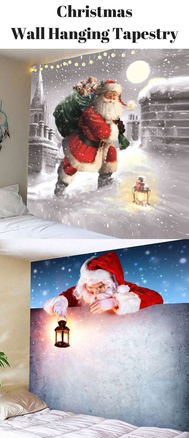 Christmas Santa Wall Hanging Tapestry | From $9 |