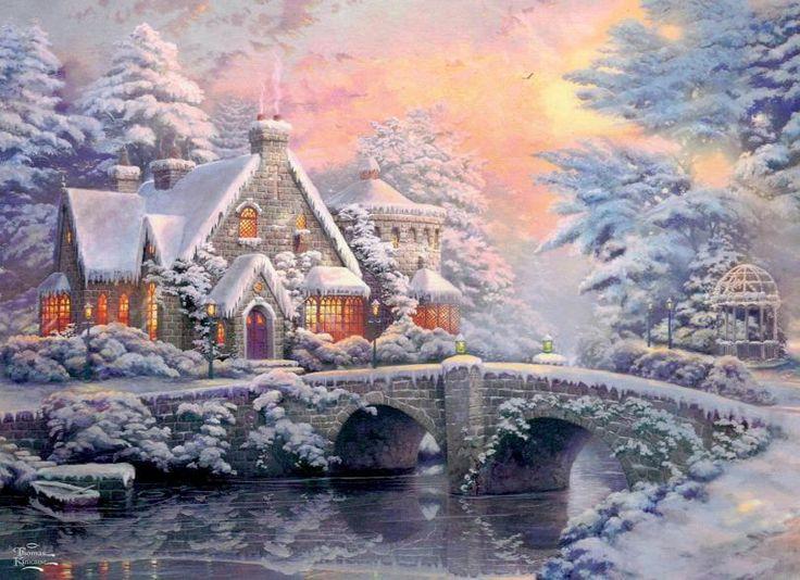 Kinkade Christmas Cottage
