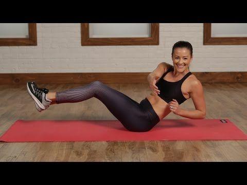 5-Minute No-Crunch Flat Abs Workout | Class FitSugar - YouTube