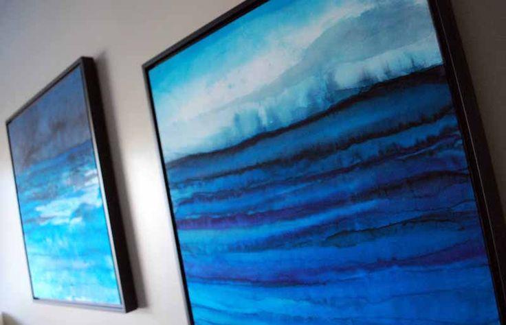 jana lamberti silk art seascapes on the walls shadow box framing 800