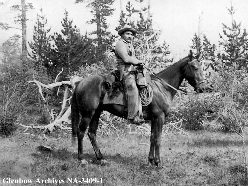 Michel Quesnelle, North-West Mounted Police scout. 1875    Date: 1875